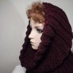 Handstickad sjal